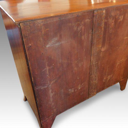 Georgian mahogany bow chest rear