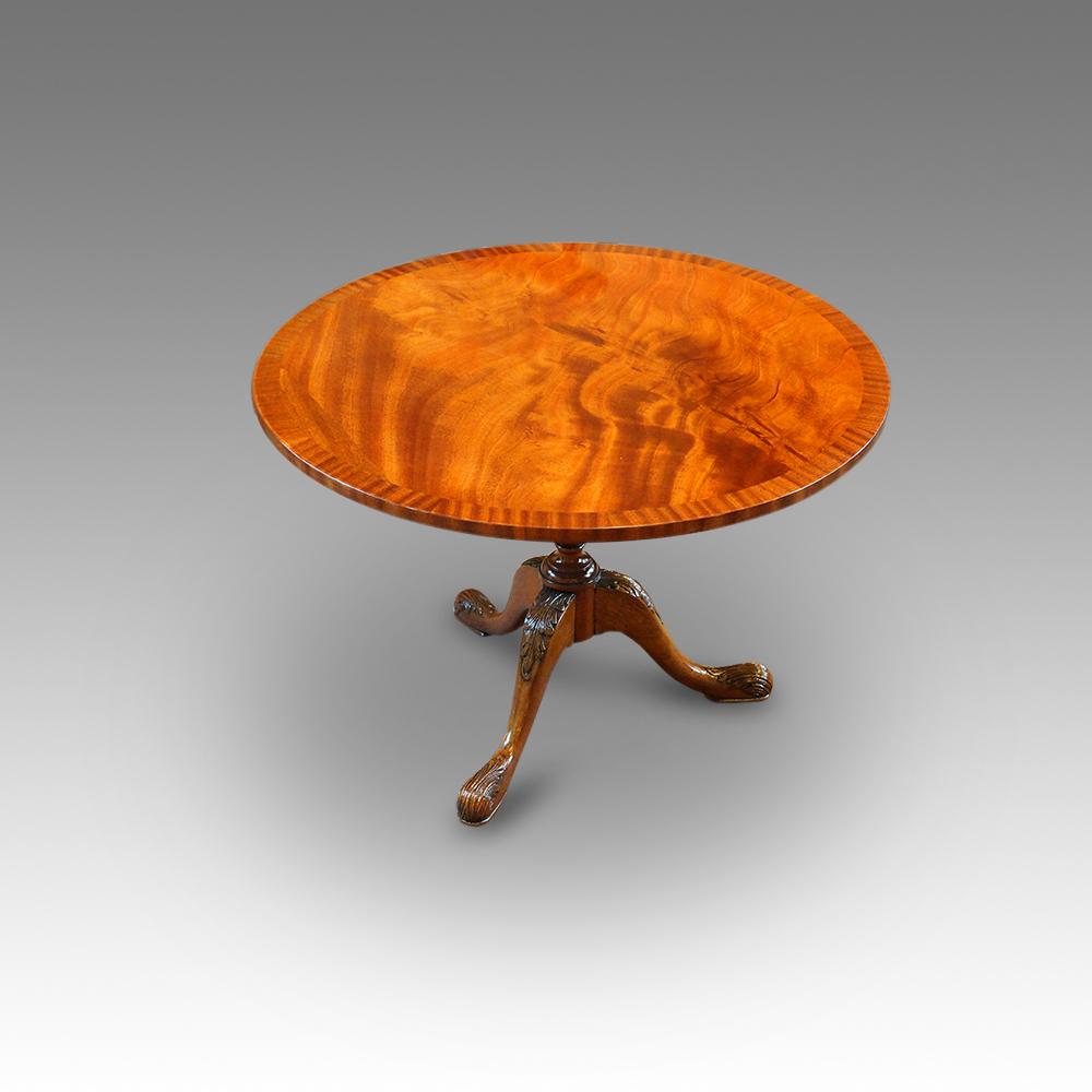 Mahogany Circular Coffee Table