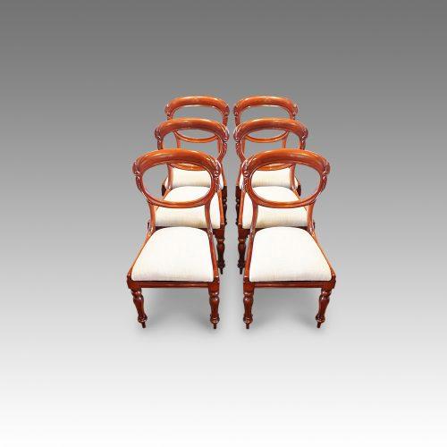 Set of 6 Victorian mahogany balloonback dining chairs