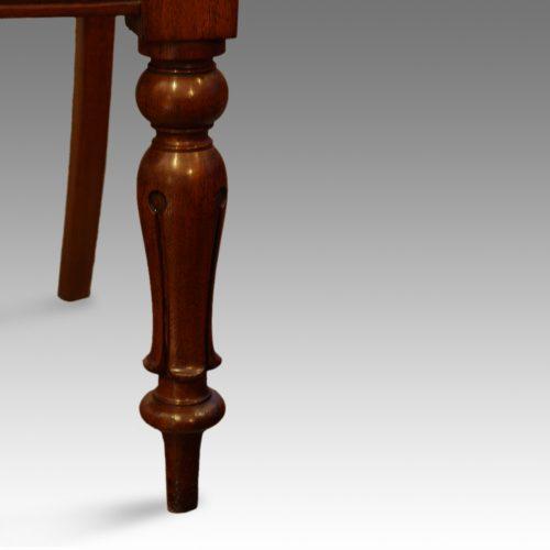 Set of 6 Victorian mahogany balloonback dining chairs front leg