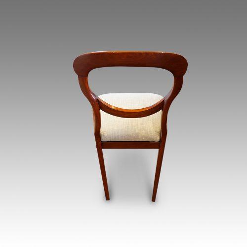 Set of 6 Victorian mahogany balloonback dining chairs rear