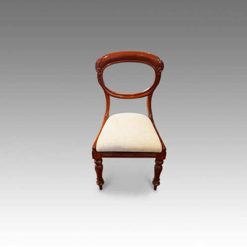 Set of 6 Victorian mahogany balloonback dining chairs single