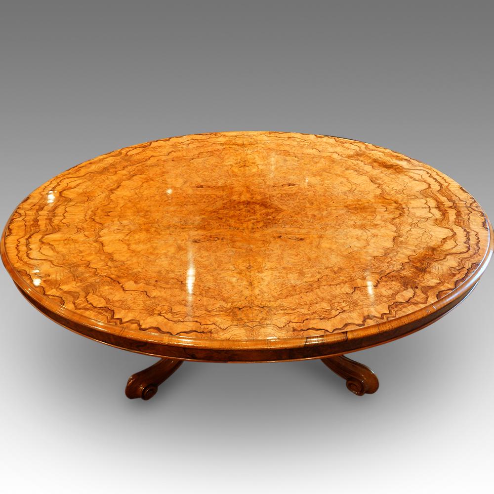 Walnut Coffee Table.Victorian Burr Walnut Coffee Table