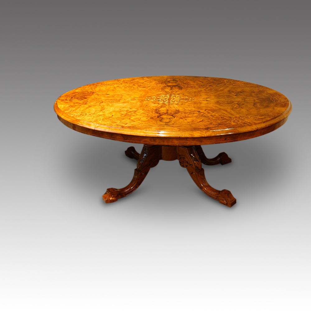 Victorian Inlaid Walnut Coffee Table